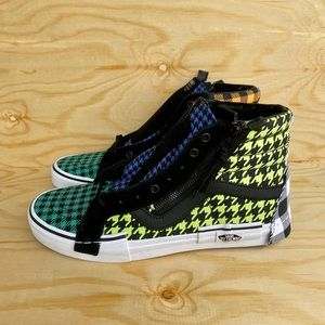 VANS SK8 HI TOP Multicolor Suede/Canvas Shoes